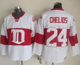 Detroit Red Wings #24 Chris Chelios White Winter Classic CCM Throwback Stitched NHL Jersey