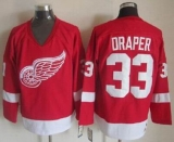 Detroit Red Wings #33 Kris Draper Red CCM Throwback Stitched NHL Jersey