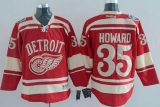 Detroit Red Wings #35 Jimmy Howard Red 2014 Winter Classic Stitched NHL Jersey