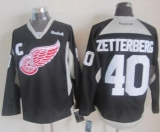 Detroit Red Wings #40 Henrik Zetterberg Black Practice Stitched NHL Jersey