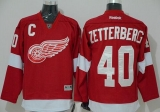 Detroit Red Wings #40 Henrik Zetterberg Red Stitched NHL Jersey