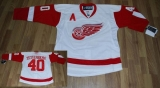 Detroit Red Wings #40 Henrik Zetterberg Stitched White NHL Jersey