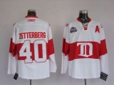 Detroit Red Wings #40 Henrik Zetterberg Stitched White Winter Classic NHL Jersey
