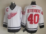 Detroit Red Wings #40 Henrik Zetterberg White Fashion Stitched NHL Jersey