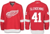 Detroit Red Wings #41 Luke Glendening Red Stitched NHL Jersey