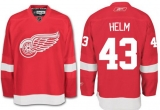 Detroit Red Wings #43 Darren Helm Red Stitched NHL Jersey