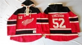 Detroit Red Wings #52 Jonathan Ericsson Red Sawyer Hooded Sweatshirt Stitched NHL Jersey