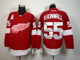 Detroit Red Wings #55 Niklas Kronwall Red Stitched NHL Jersey