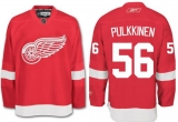 Detroit Red Wings #56 Teemu Pulkkinen Red Stitched NHL Jersey