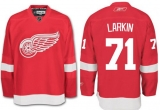 Detroit Red Wings #71 Dylan Larkin Red Stitched NHL Jersey
