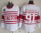 Detroit Red Wings #91 Sergei Fedorov White 75TH CCM Stitched NHL Jersey