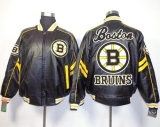 Boston Bruins Black NHL Leather Jacket