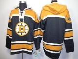 Boston Bruins Blank Black Sawyer Hooded Sweatshirt Stitched NHL Jersey