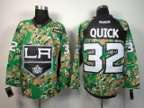 Los Angeles Kings #32 Jonathan Quick Camo Veterans Day Practice Stitched NHL Jersey