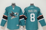 San Jose Sharks #8 Joe Pavelski Stitched Teal NHL Jersey