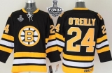 Boston Bruins Stanley Cup Finals Patch #24 O\'Reilly CCM Throwback Black Stitched NHL Jersey
