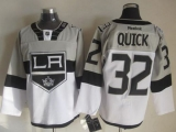 Los Angeles Kings #32 Jonathan Quick White Grey 2015 Stadium Series Stitched NHL Jersey