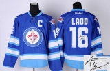 Autographed Winnipeg Jets #16 Andrew Ladd Blue St