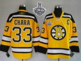 Boston Bruins Stanley Cup Finals Patch #33 Zdeno Chara Stitched Winter Classic Yellow NHL Jersey