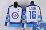 Autographed Winnipeg Jets #16 Andrew Ladd Stitched White 2011 Style NHL Jersey