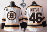 Boston Bruins Stanley Cup Finals Patch #46 David Krejci White Stitched NHL Jersey