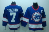 Winnipeg Jets #7 Keith Tkachuk Stitched Blue CCM Throwback NHL Jersey