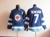 Winnipeg Jets #7 Keith Tkachuk Stitched Dark Blue 2011 Style NHL Jersey