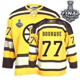 Boston Bruins Stanley Cup Finals Patch #77 Ray Bourque Stitched Winter Classic Yellow NHL Jersey
