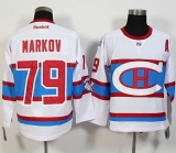 Montreal Canadiens #79 Andrei Markov White 2016 Winter Classic Stitched NHL Jersey