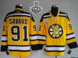 Boston Bruins Stanley Cup Finals Patch #91 Marc Savard Stitched Winter Classic Yellow NHL Jersey