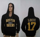 CCM Boston Bruins #17 Milan Lucic Black Lace Up Hoodie