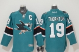 San Jose Sharks #19 Joe Thornton Stitched Teal NHL Jersey