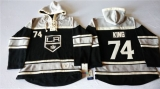 Los Angeles Kings #74 Dwight King Black Sawyer Hooded Sweatshirt Stitched NHL Jersey