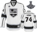Los Angeles Kings #74 Dwight King White Road 2014 Stanley Cup Champions Stitched NHL Jersey