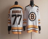 CCM Throwback Boston Bruins #77 Ray Bourque White Stitched NHL Jersey