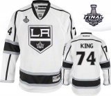 Los Angeles Kings #74 Dwight King White Road 2014 Stanley Cup Finals Stitched NHL Jersey