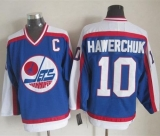 Winnipeg Jets #10 Dale Hawerchuk Blue White CCM Throwback Stitched NHL Jersey