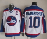 Winnipeg Jets #10 Dale Hawerchuk White Blue CCM Throwback Stitched NHL Jersey