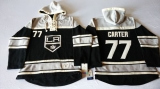 Los Angeles Kings #77 Jeff Carter Black Sawyer Hooded Sweatshirt Stitched NHL Jersey