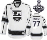 Los Angeles Kings #77 Jeff Carter White Road 2014 Stanley Cup Finals Stitched NHL Jersey