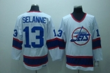 Winnipeg Jets #13 Teemu Selanne Stitched White CCM Throwback NHL Jersey