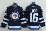 Winnipeg Jets #16 Andrew Ladd Stitched Dark Blue 2011 Style NHL Jersey