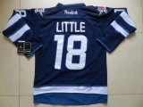 Winnipeg Jets #18 Bryan Little Dark Blue Stitched NHL Jersey