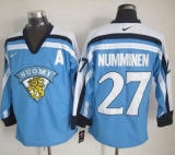 Winnipeg Jets #27 Teppo Numminen Light Blue Nike Throwback Stitched NHL Jersey