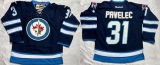 Winnipeg Jets #31 Ondrej Pavelec Dark Blue Stitched NHL Jersey