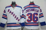 New York Rangers #36 Mats Zuccarello White Road Stitched NHL Jersey