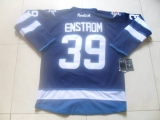 Winnipeg Jets #39 Tobias Enstrom Dark Blue Stitched NHL Jersey