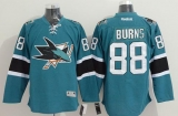 San Jose Sharks #88 Brent Burns Teal Stitched NHL Jersey