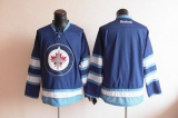 Winnipeg Jets Blank Stitched Dark Blue 2011 Style NHL Jersey