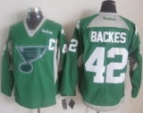 St Louis Blues #42 David Backes Green Practice Stitched NHL Jersey